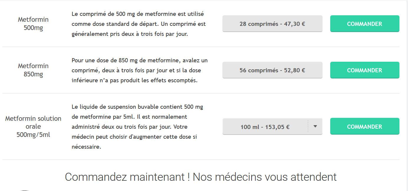 acheter Metformina